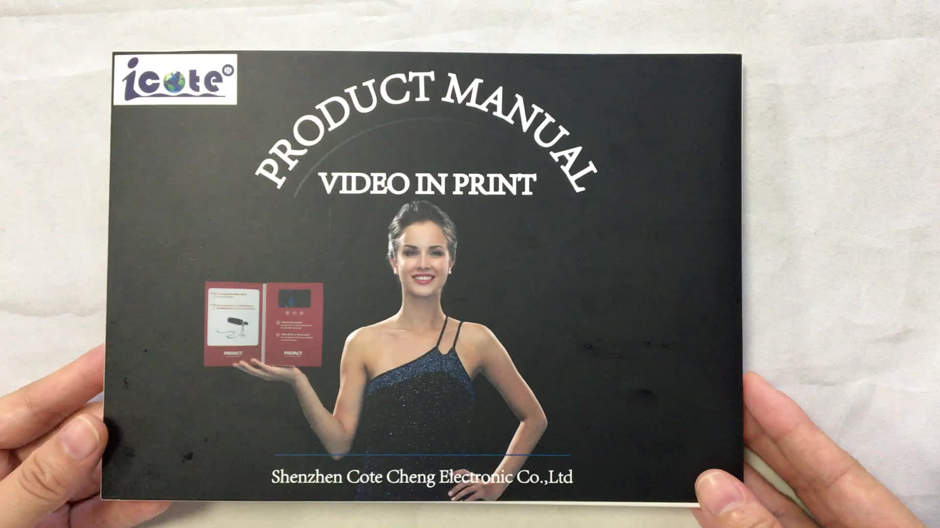 Cote 4 Color CMYK in Printing Card Hard-Over Video Promo Video Brochure