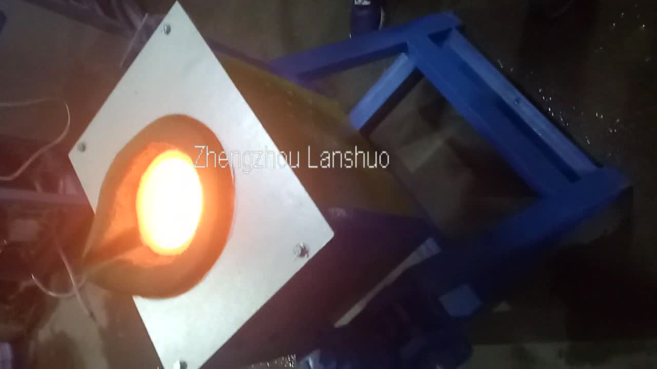 tilting induction melting furnace for melting  50kg copper gold silver
