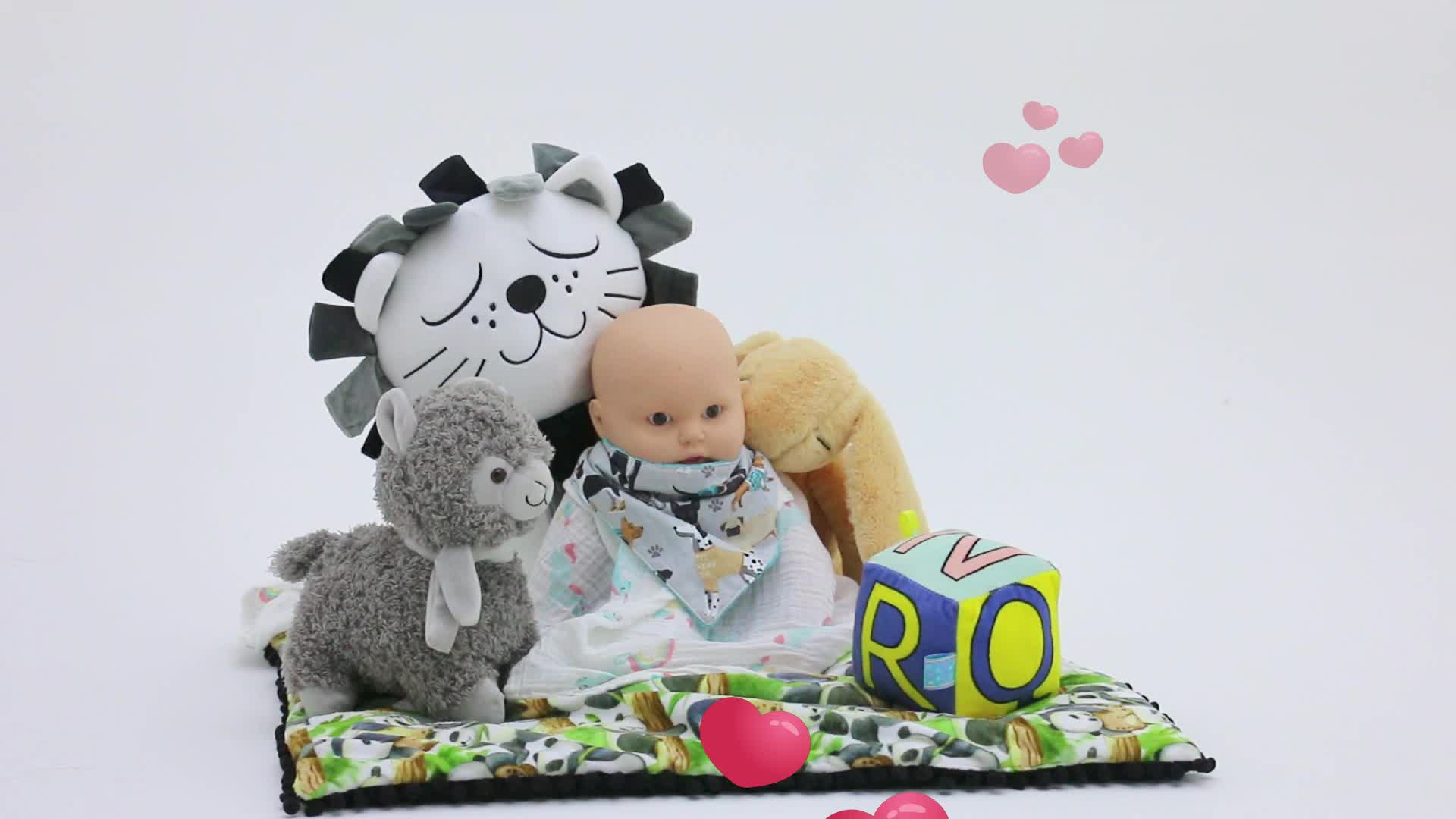 Summer Cotton Knitted Newborn Baby Infant Bed Snuggle Nest