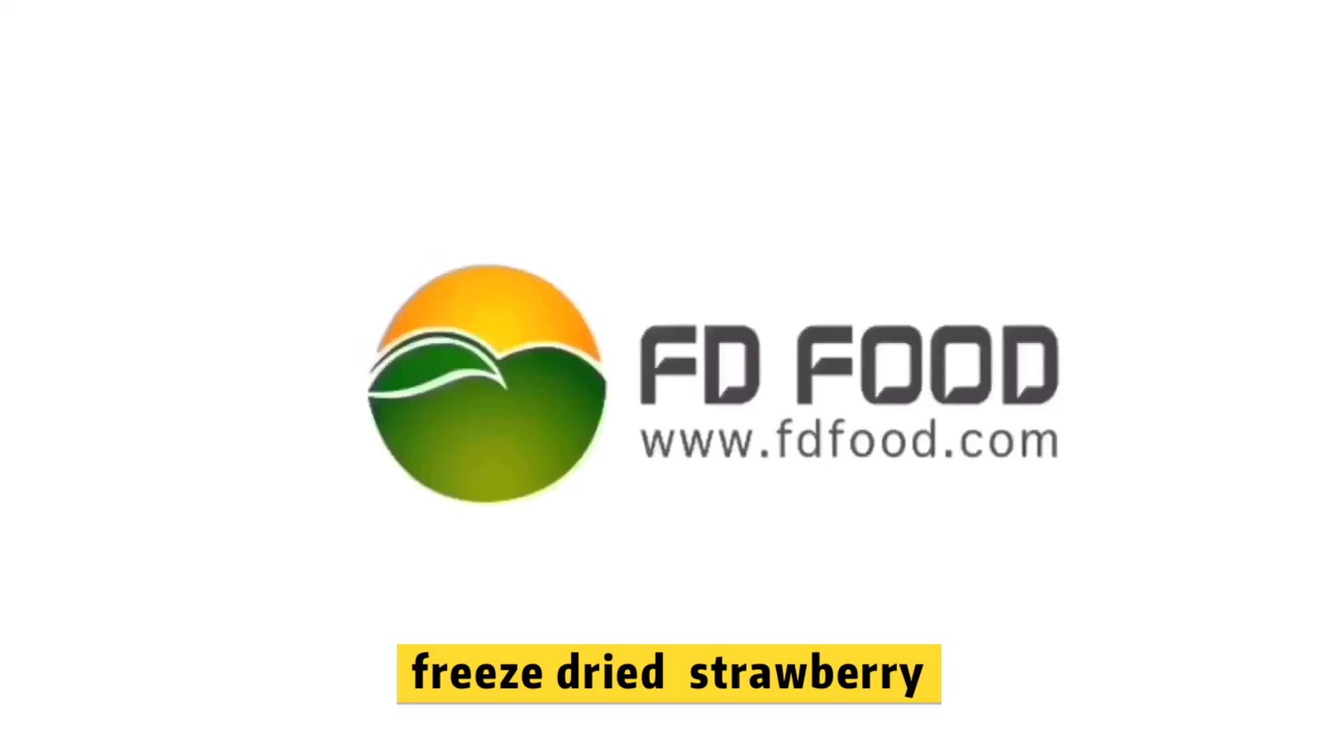 Freeze-Dried crocante 100% Natural Frutas liofilizadas morango inteiro