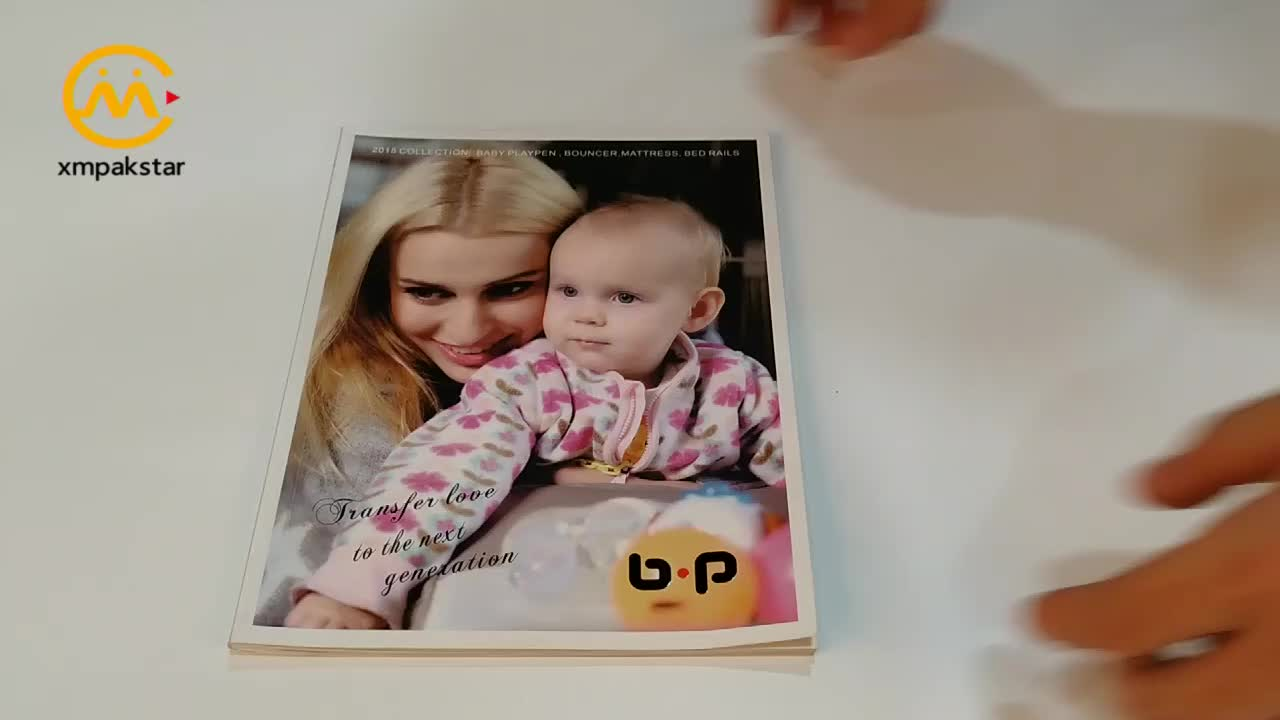 Wholesale low cost perfect bound softcover child magazine art catalog printing service