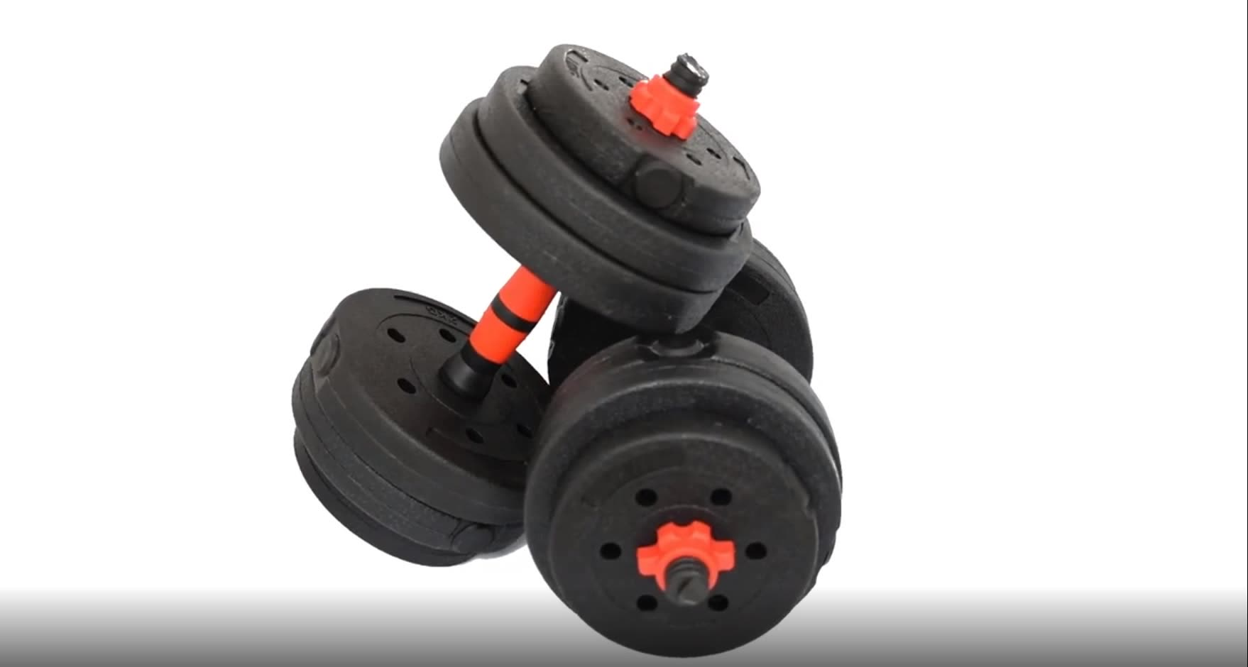 Rubber Coated plastic cement coating dumbbell fitness equipment Adjustable Dumbbell Set