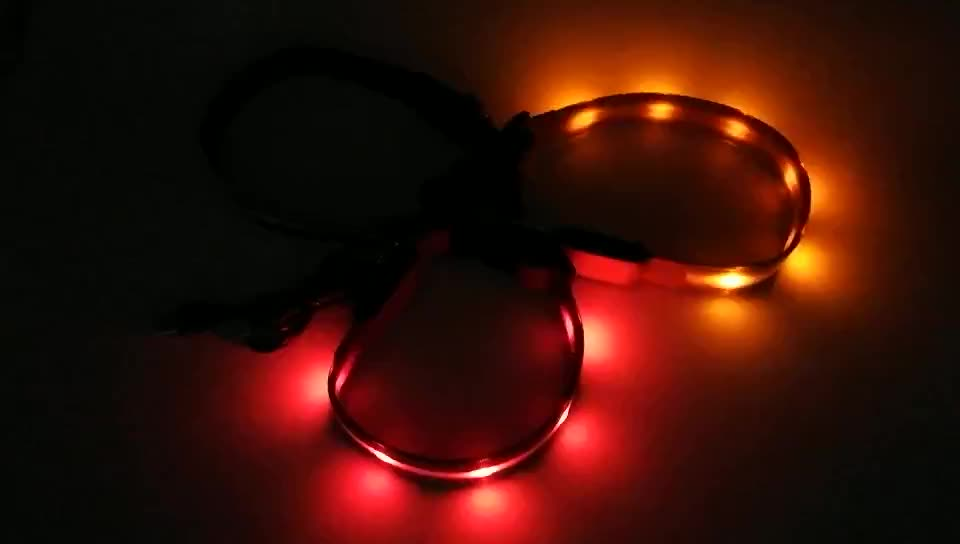 Best Selling Wholesale USB Rechargeable Flashing Led Dog Collar Glow in the Dark