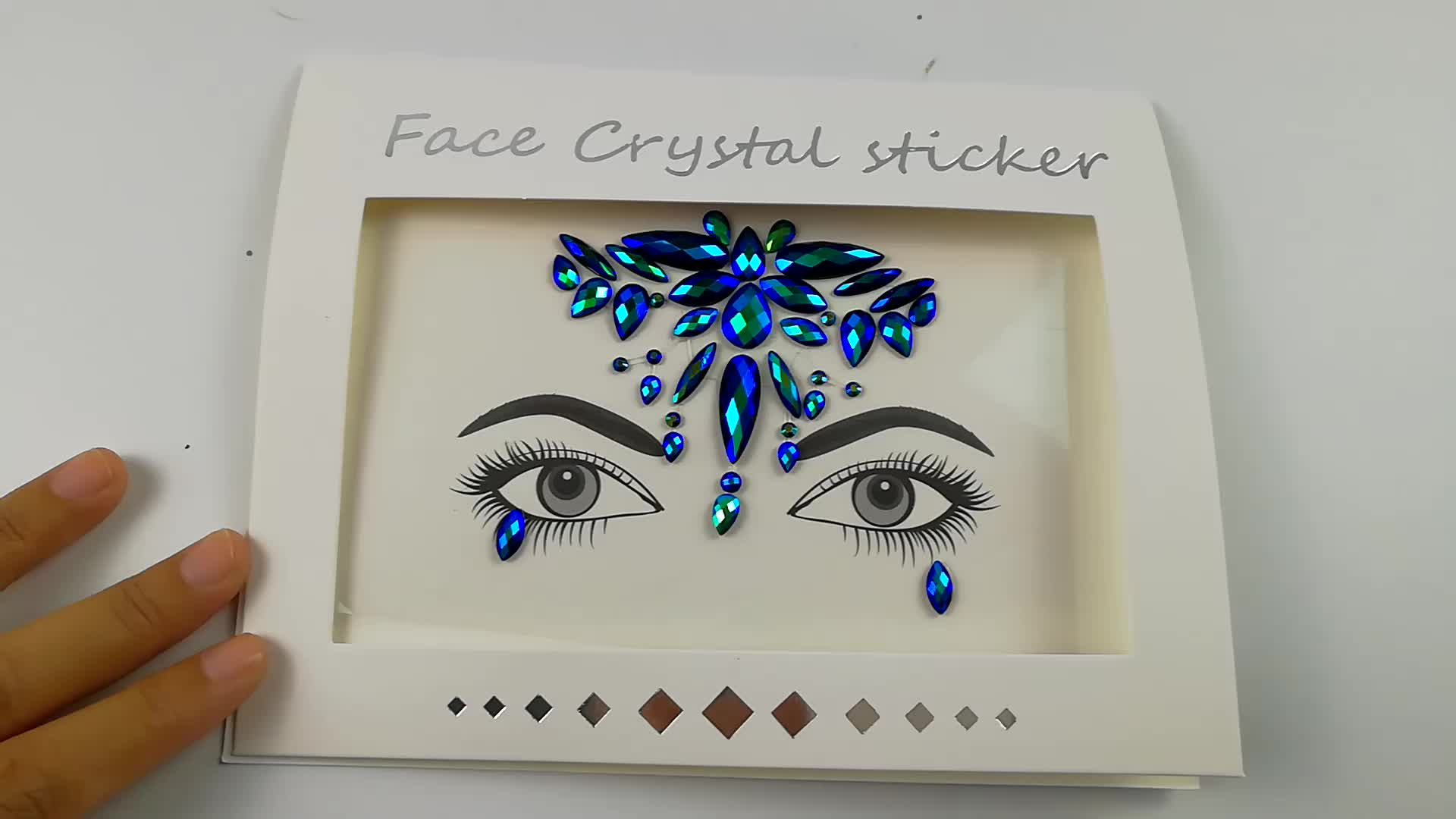 Hot Sale Popular Models Face And Breast Crystal Jewelry Sticker