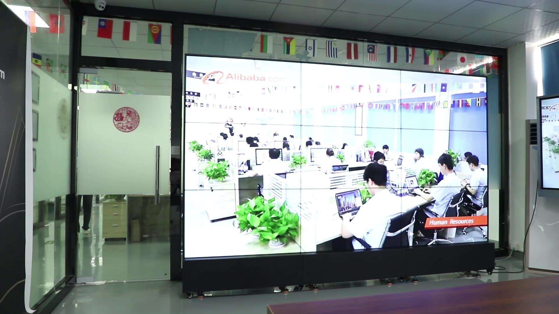 Hot sale 43 polegadas jogadores publicidade wall-mounted/floor standing video wall