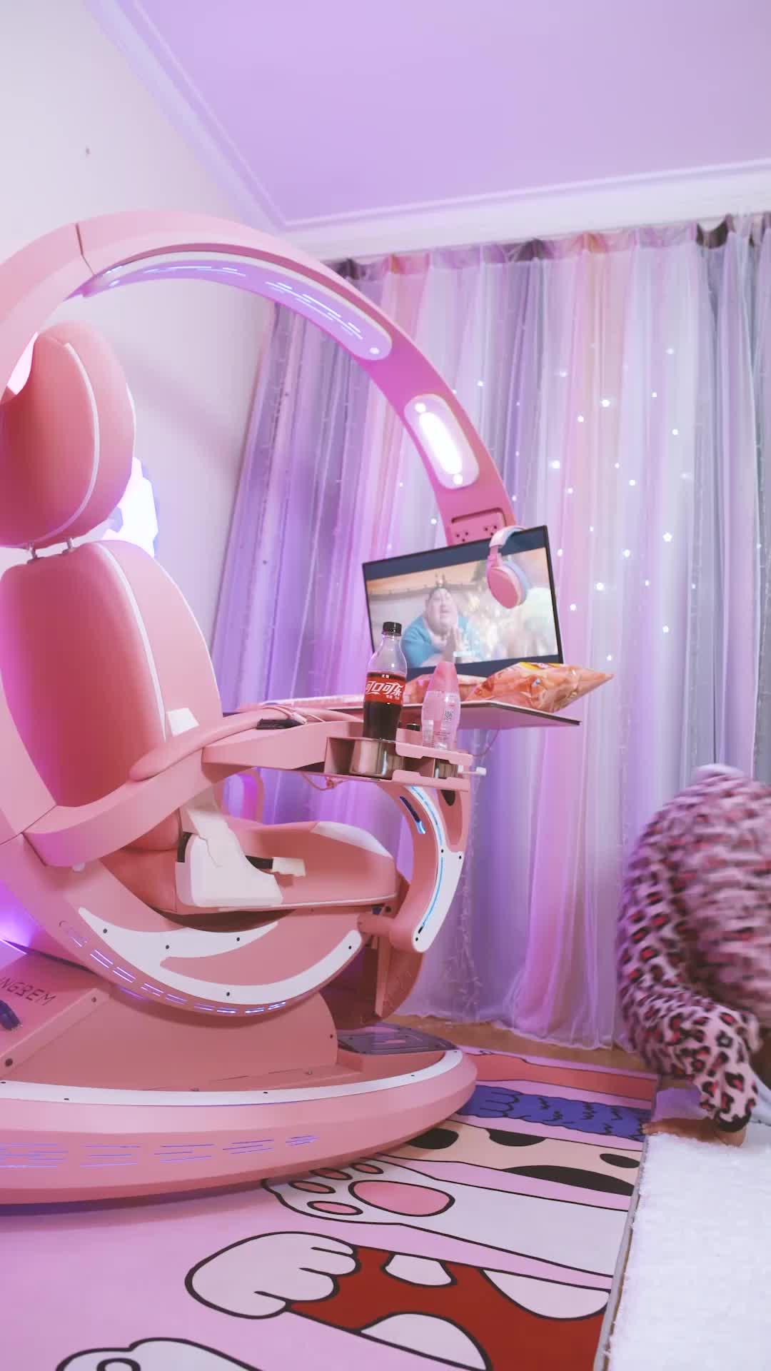 Ingrem PC Gaming Workstation Chair Luxury Pink Setup Ergonomic Chair