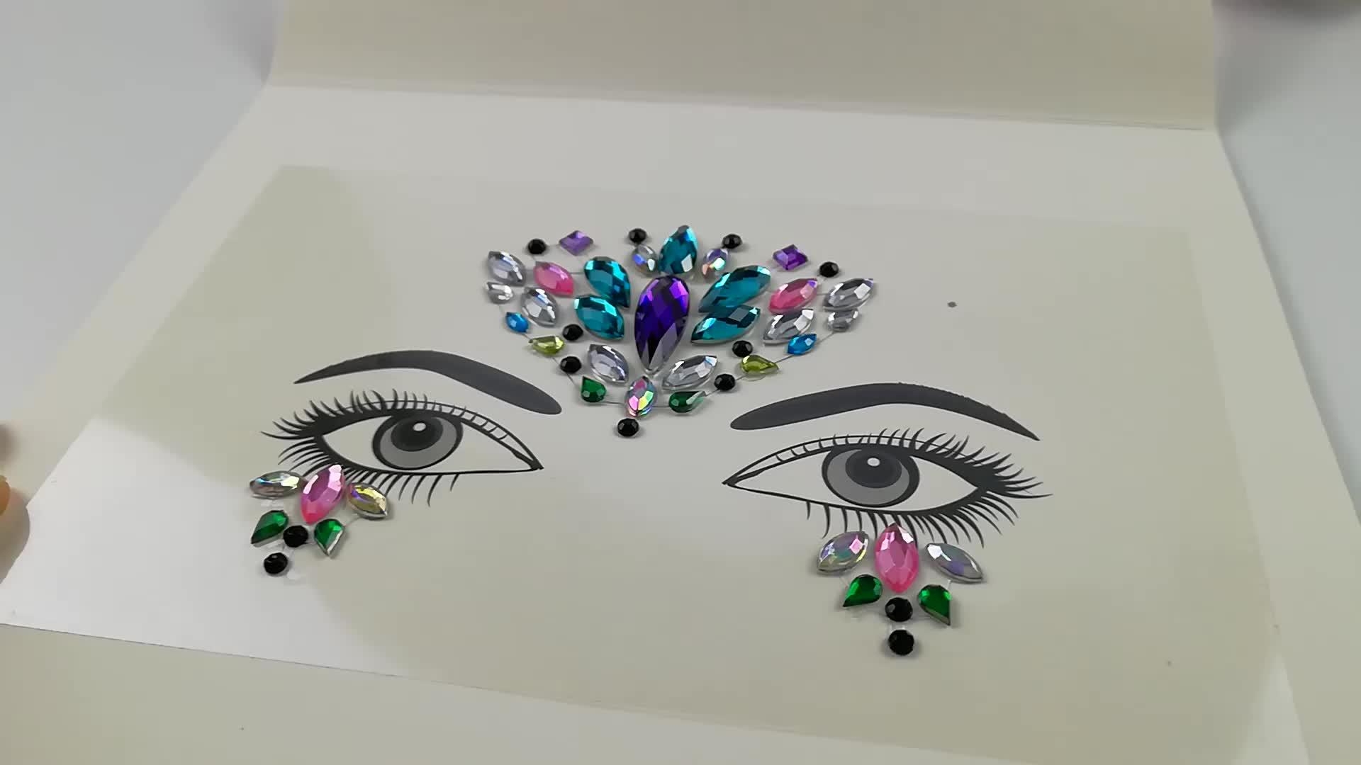 Customized Private Logo Face Decoration Crystal Face Jewel