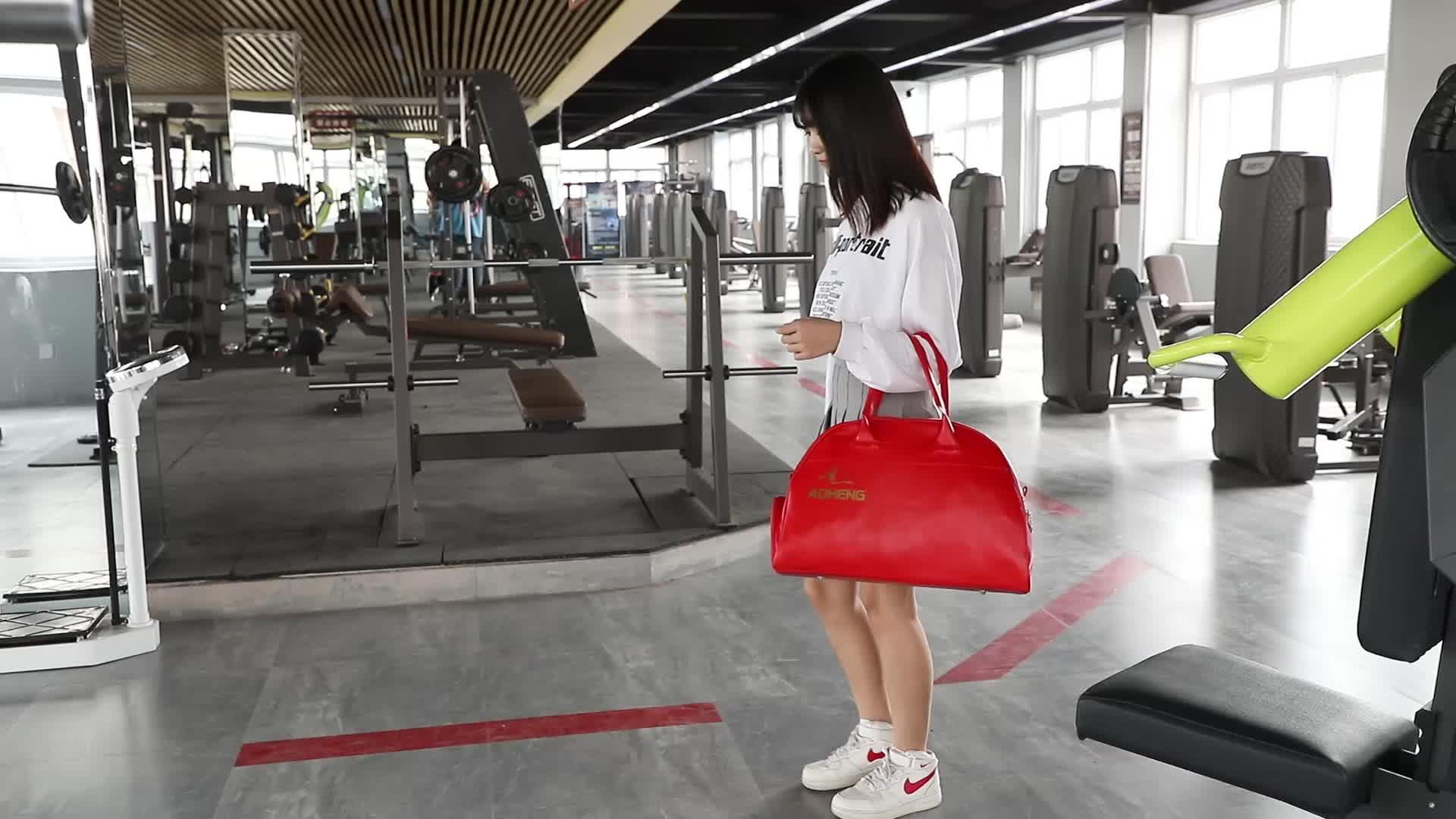 Personnalisé sac de sport avec armoire à chaussures logo personnalisé sac de voyage bagages gestionnaire de Sport en cuir PU imperméable à l'eau sac de sport hommes
