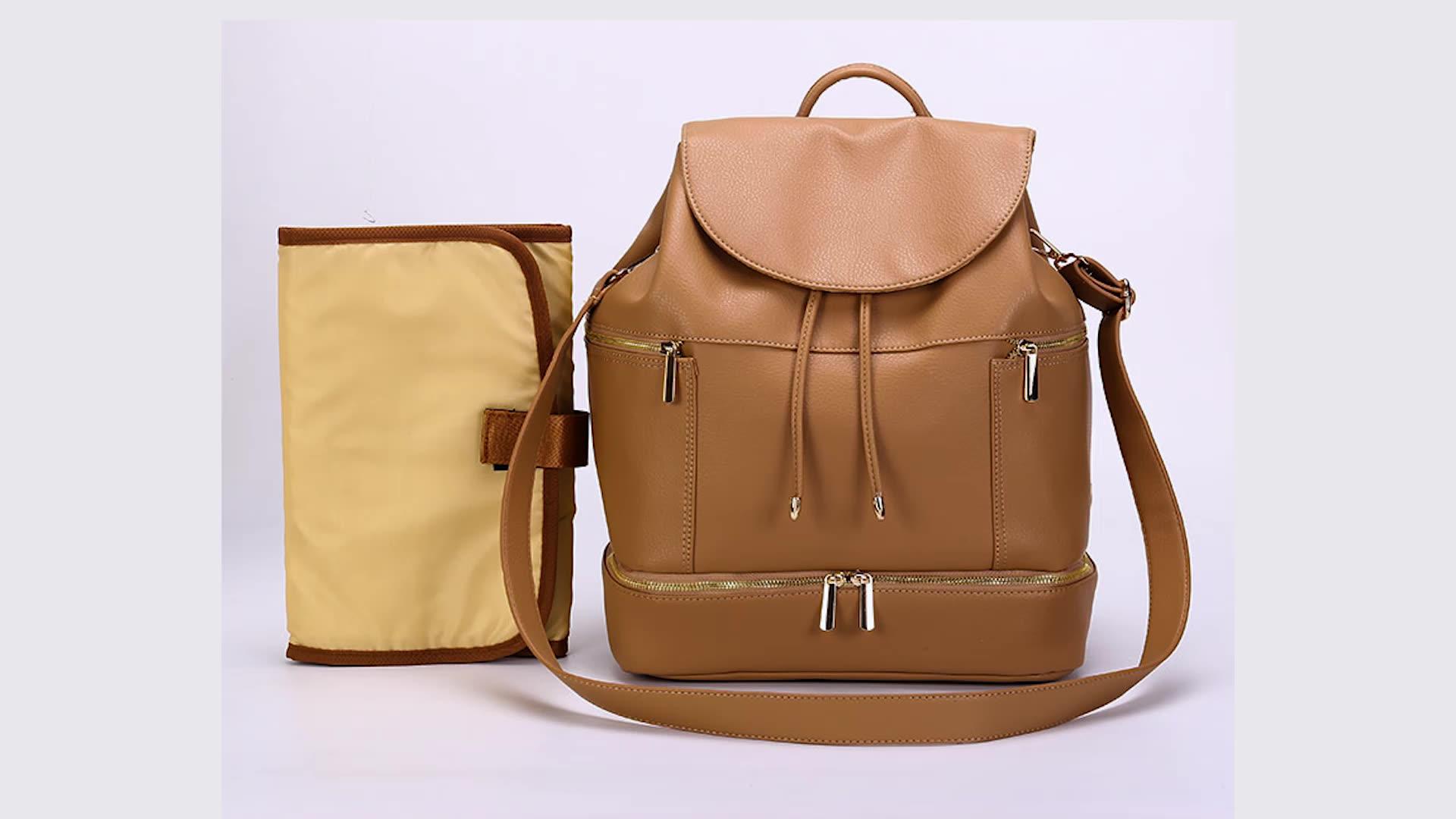 Elegante bolso organizador de viaje de cuidado de bebé impermeable de gran capacidad bolsa mamá bebé bolsa para mamá y papá