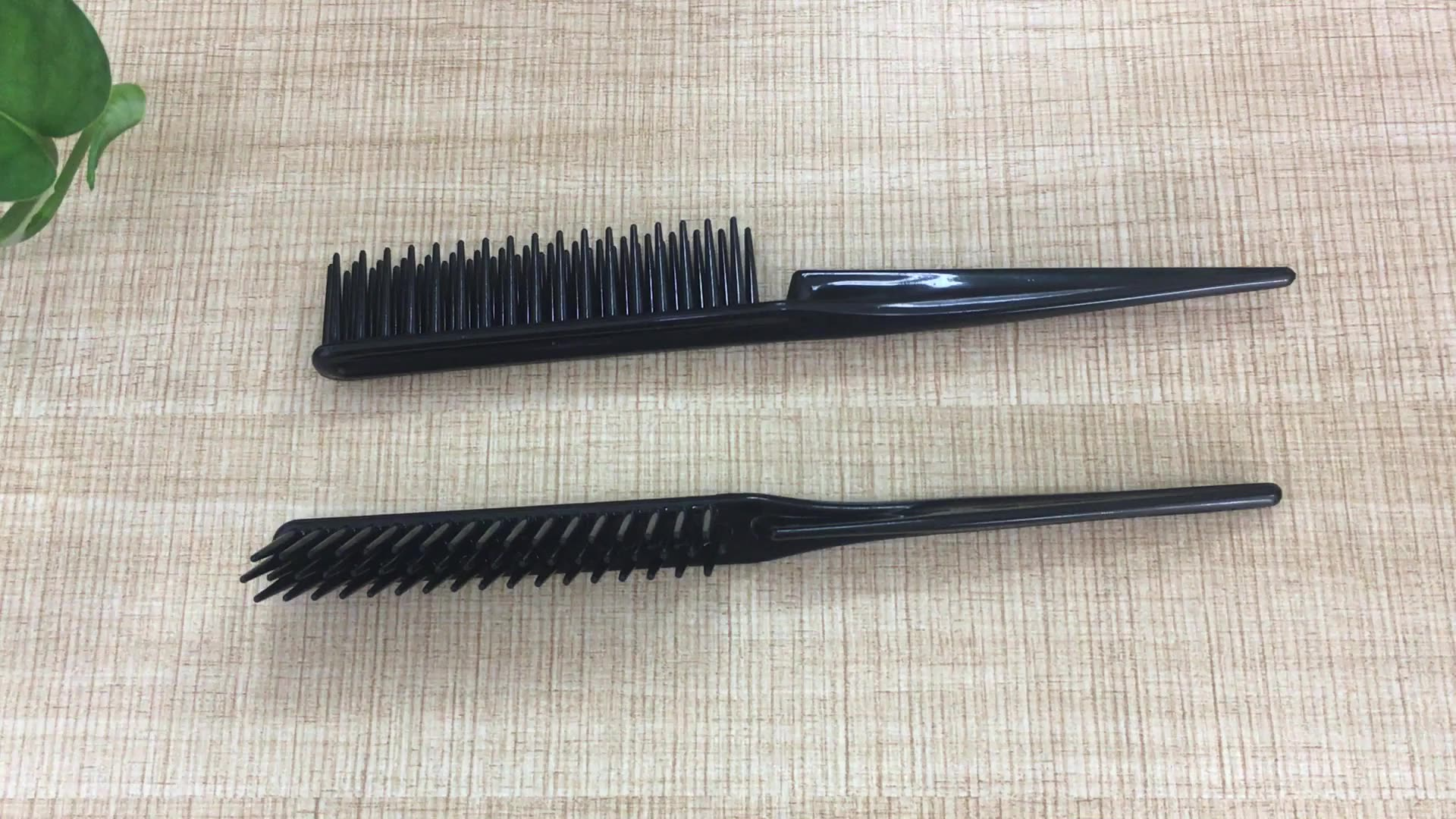 Salon barber use Multi function 3 Rows Styler Hair Brush Comb