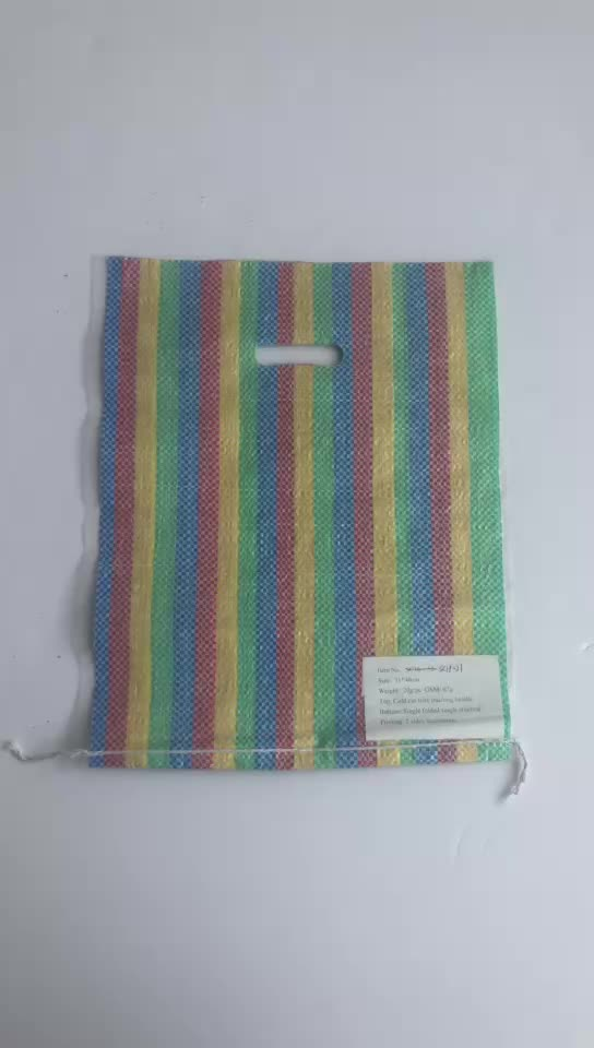 China factory pp plastic packaging woven colorful shopping bag exported to Africa best price