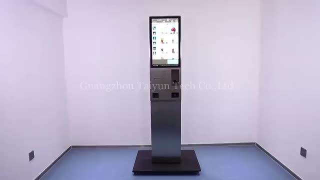 Chain restaurant 24 inch android self service kiosk machine touch screen kiosk with printer