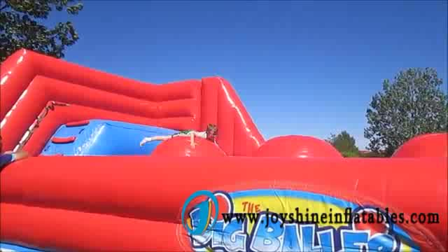 Factory Custom Inflatable Sports Games Interactive Big Baller Wipeout Bouncer 9m x 5m x 3m