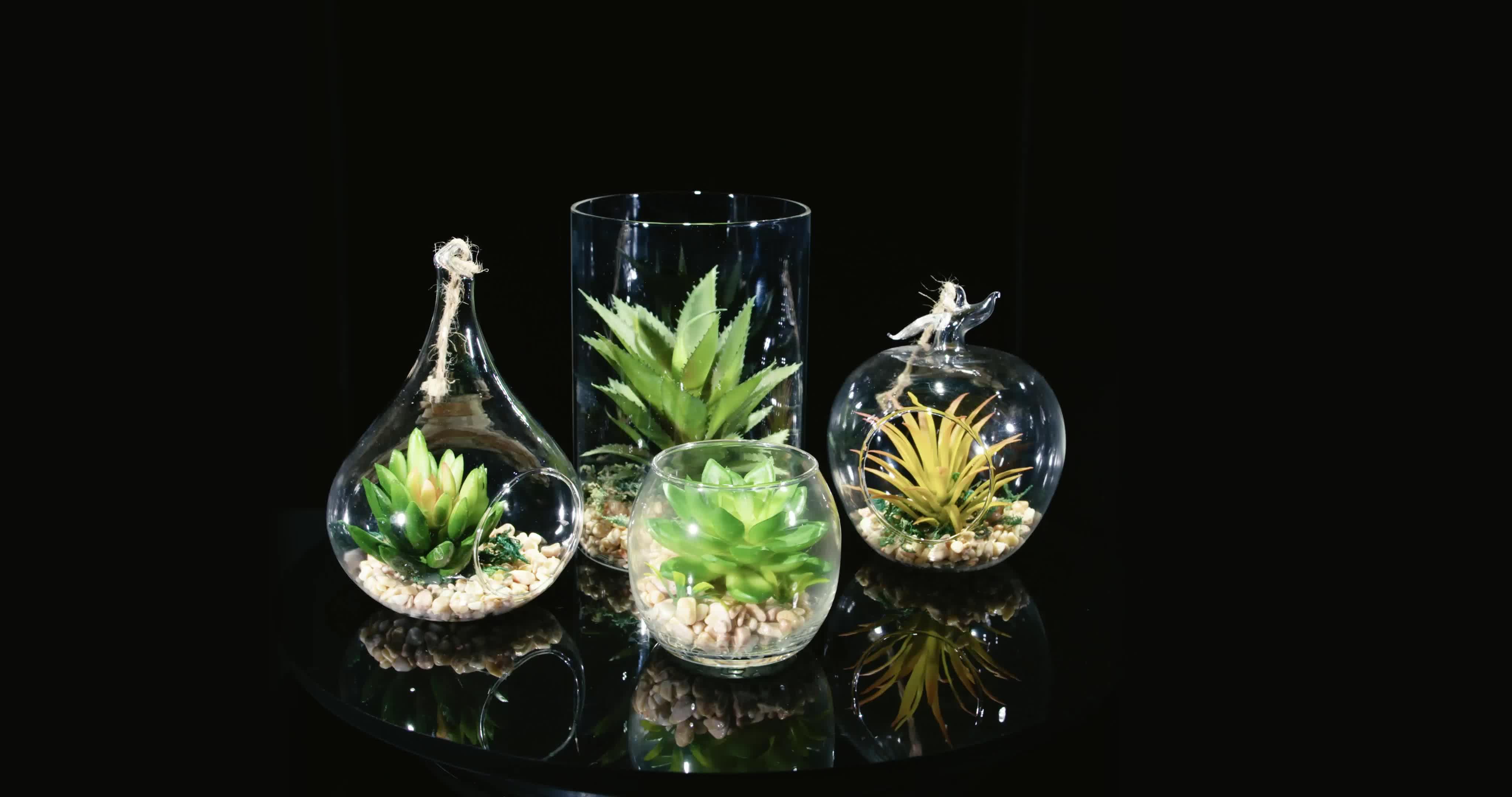 Hot Verkoop Kegelvorm Helder Glas Opknoping Vazen Voor Bruiloft Fairy Decoratie