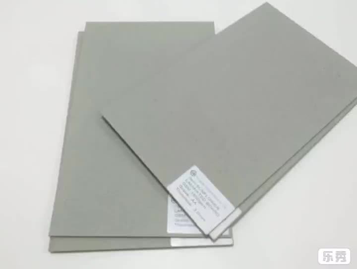 Mixed pulp paper sheets full grey board 300gsm grey paper for making photo album