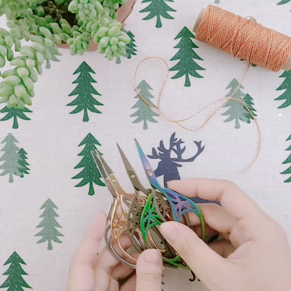 Creative vintage leaf scissors&DIY hand embroidery scissors