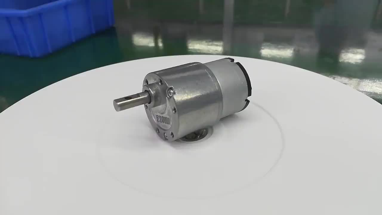 low noise 37mm gear motor 24v