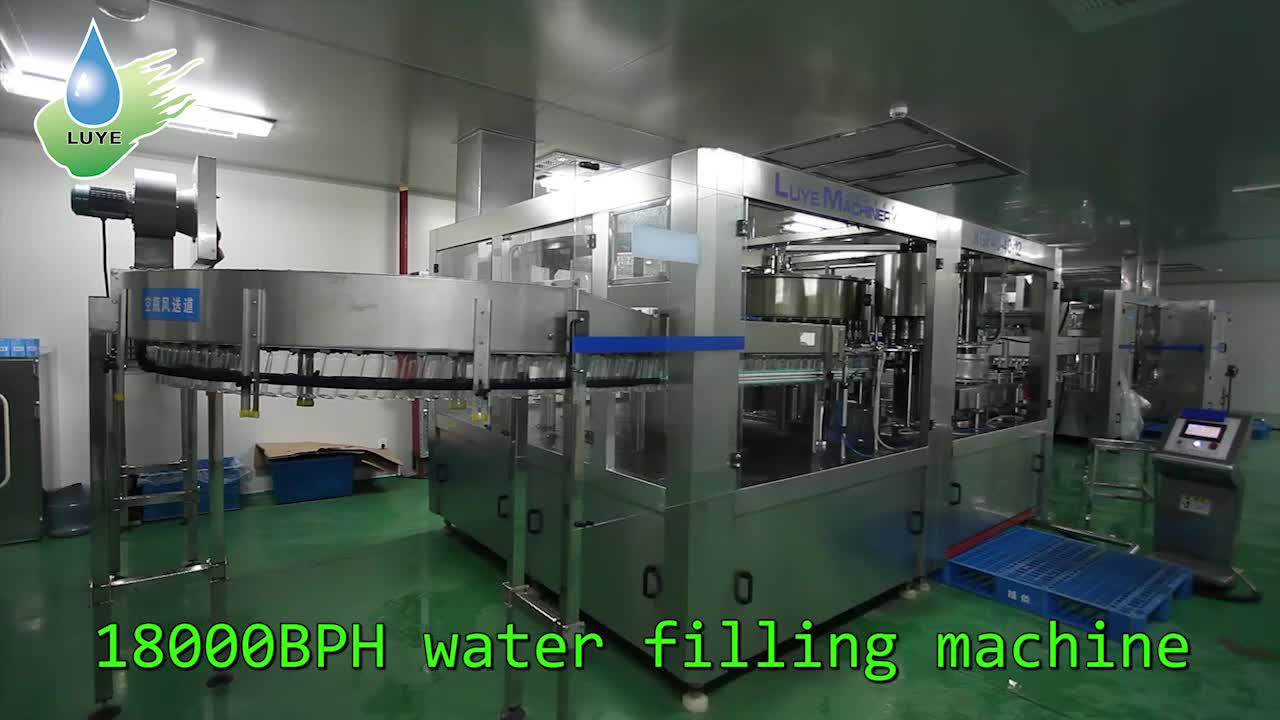 Automatic mineral drink water filling and capping machine with factory price