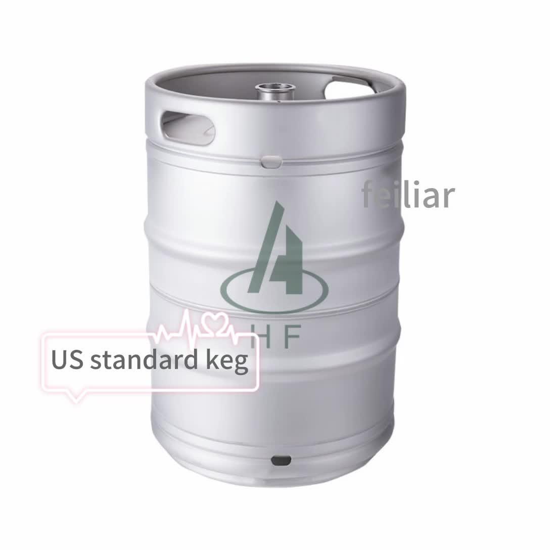 stainless steel slim US European standard half barrel 1/2 1/4 1/6  beer keg barrel  15.5 gallon 20liter   50liter beer keg
