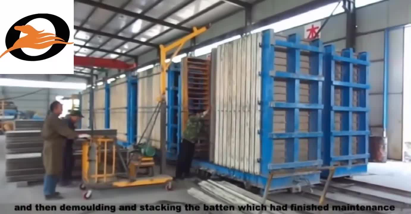 Precast Concrete Calcium Wall Panel Making Machinery