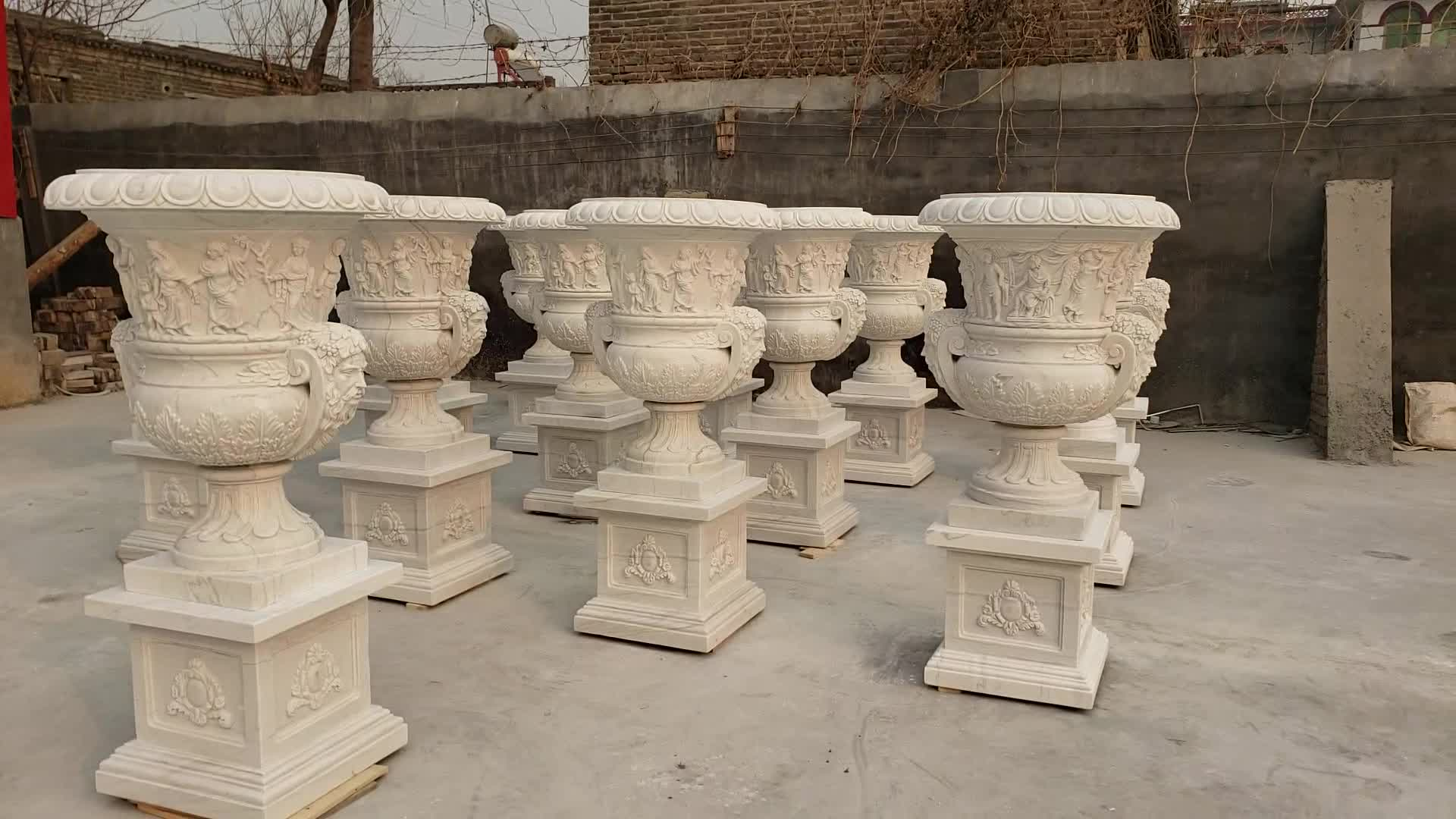 Large Square Statue Fountain For sale