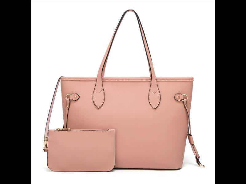 Pink Satchel Purses and Handbags for Women Shoulder Tote Bags Wallets Top Handle Messenger Hobo 2pcs Set