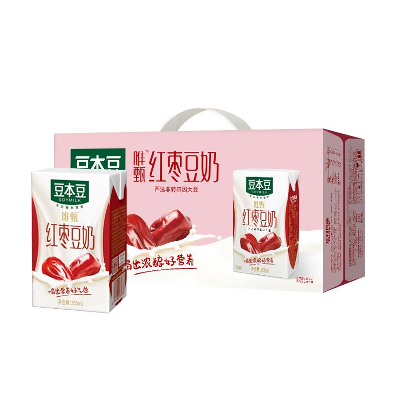 【豆本豆】红枣豆奶250ml*72盒
