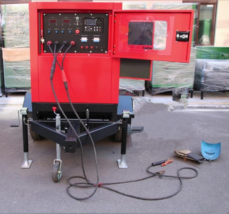 WELDMAN 500 amp MMA TIG רתך דיזל מופעל על ידי מנוע מכונת ריתוך