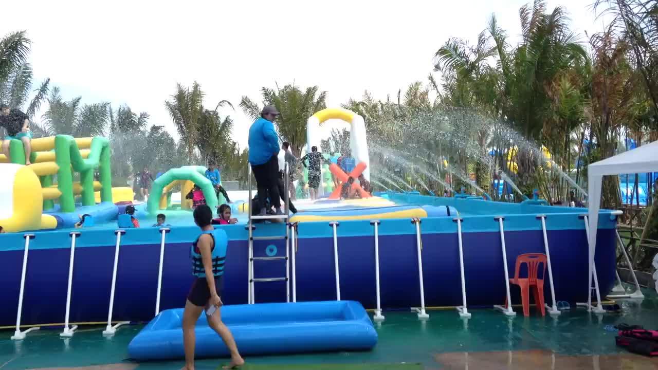 Grande piscine hors sol en acier rectangulaire Grand Hors Sol PVC piscine piscine à ossature métallique