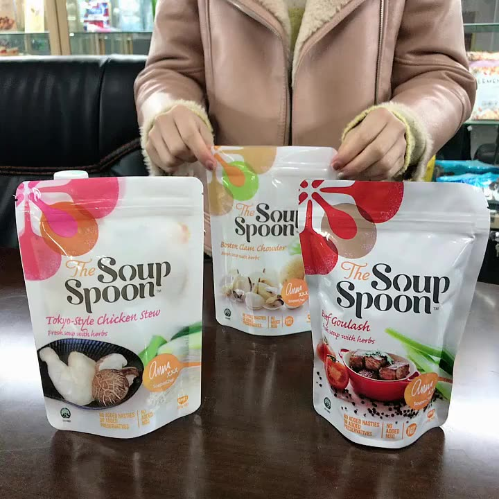 china factory produce stand up bag/pouch for food/snack/ green tea/ cookies /biscuits packaging customized