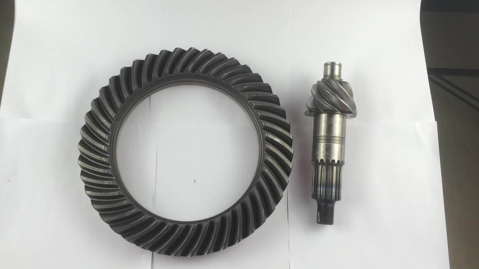 Piñón de rueda de corona espiral engranajes cónicos para isuzu