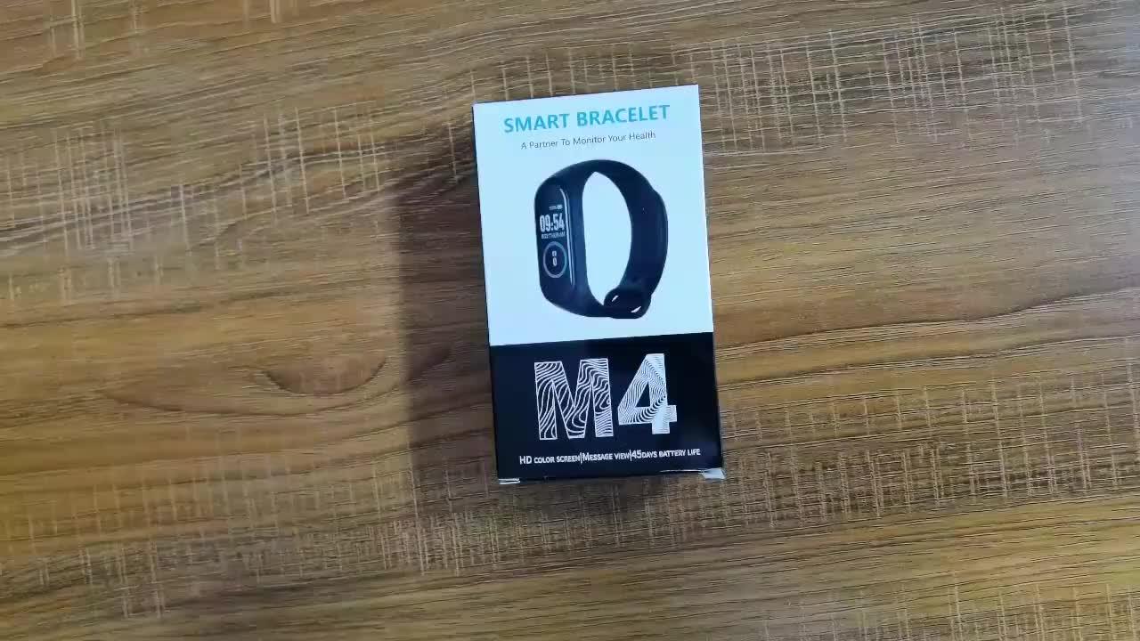 2019 最新のホット販売フィットネストラッカー M4 フィットネス腕時計スマートブレスレット