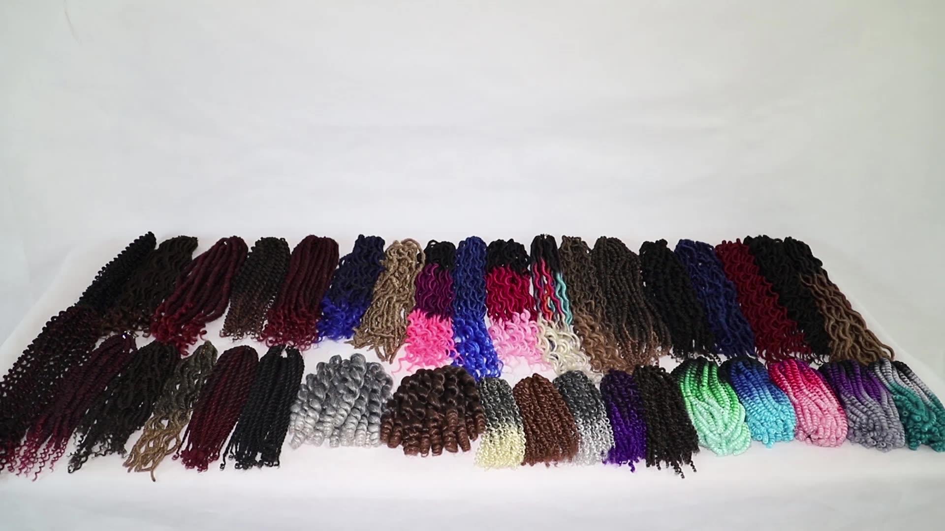 Tresses au Crochet Moelleux Pré Bouclé Passion Printemps Rebondissements Ombre Crochet Tresses Extensions De Cheveux Synthétique Tressage Cheveux Bombe Torsion