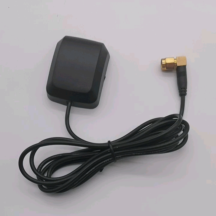 Magnetic loop antenna gps antenna active