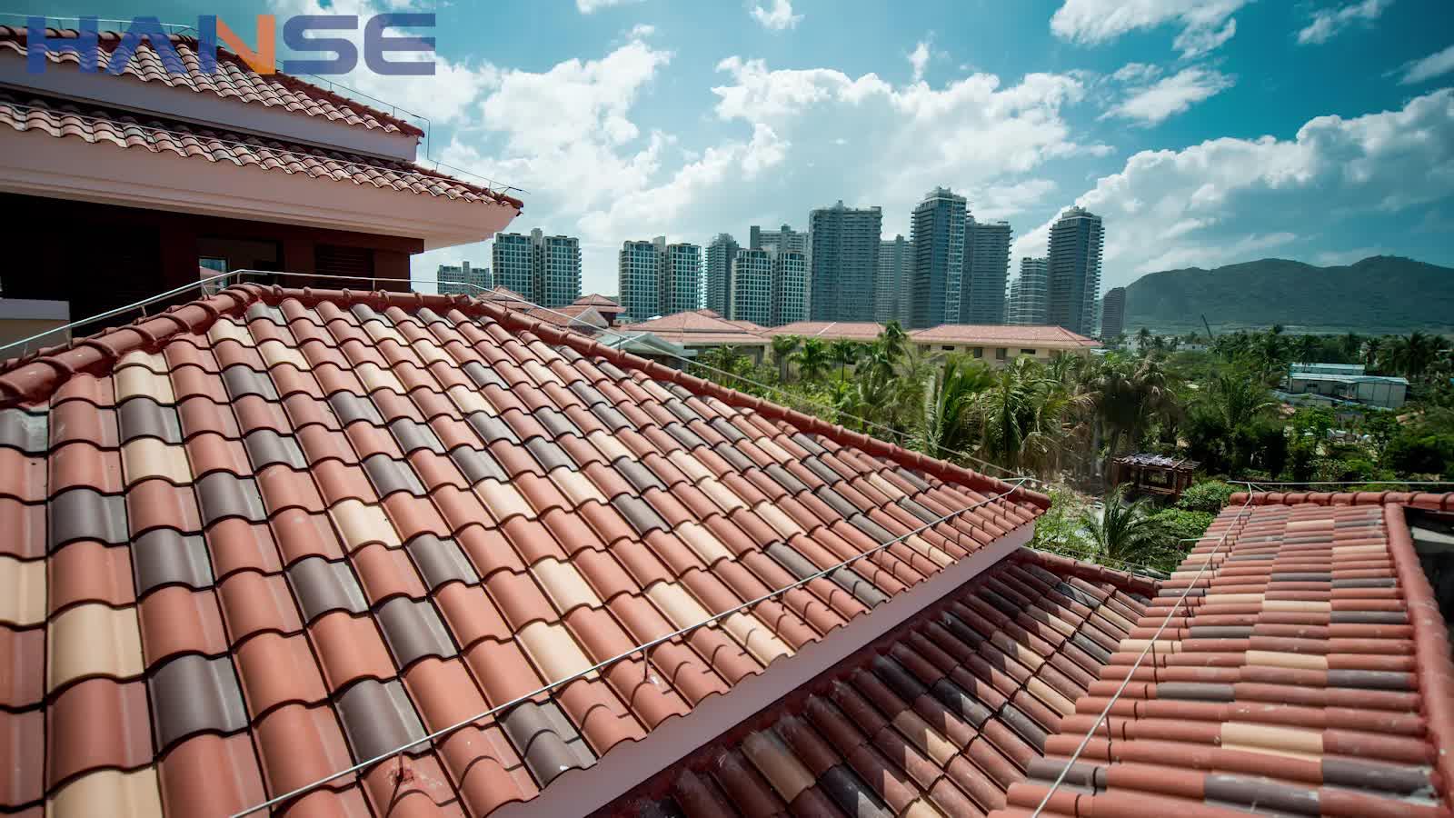 Italiaanse stijl zware dak tegels keramische franse dak tegel