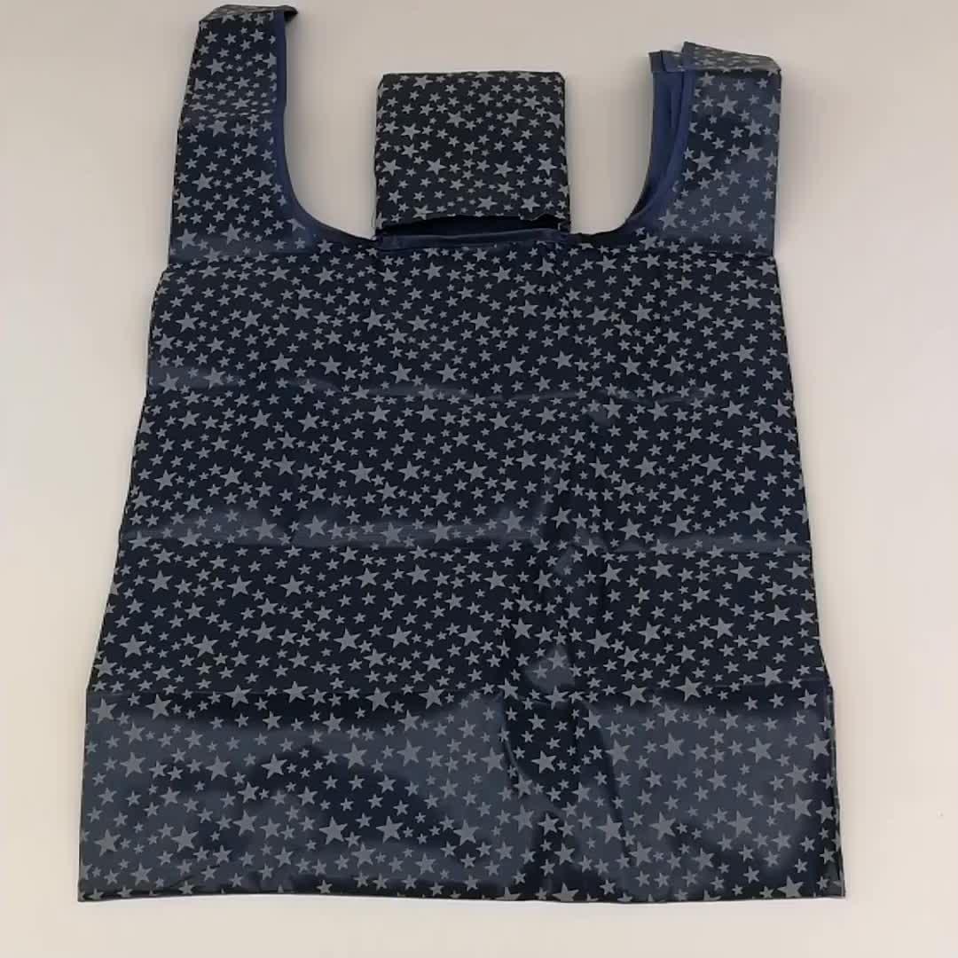 7 stil Neue Mode druck faltbare grüne einkaufstasche Tote Folding beutel handtaschen Bequem Große-kapazität lagerung taschen