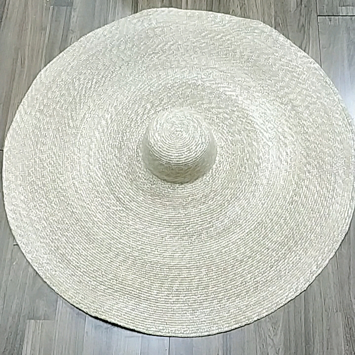 OEM Fashion Large Cap Over Size Super Big Wheat Straw Hat For Beach Cap