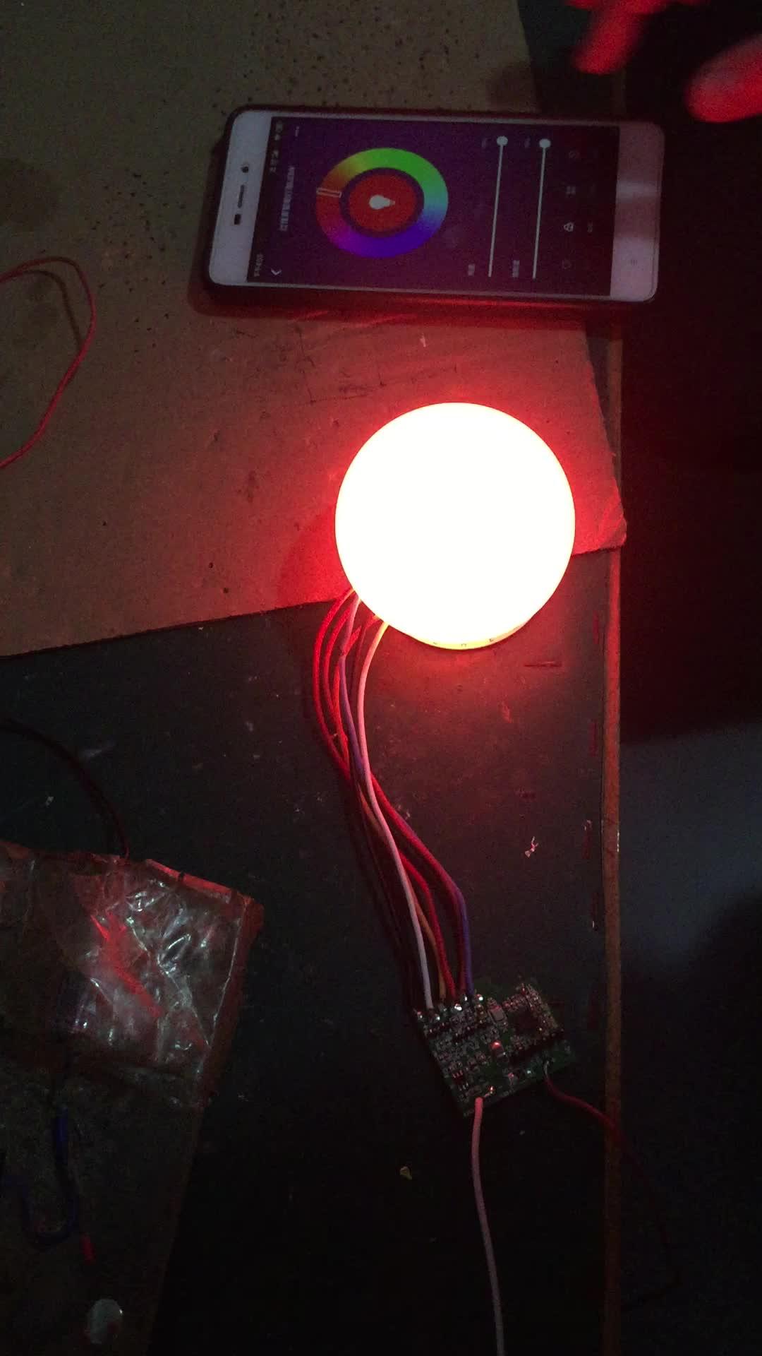 Remote Kontrol Suara E27 Dimmable LED RGB Biaya Hemat Energi Wifi Smart Lampu Bohlam Kompatibel dengan Alexa Asisten Google