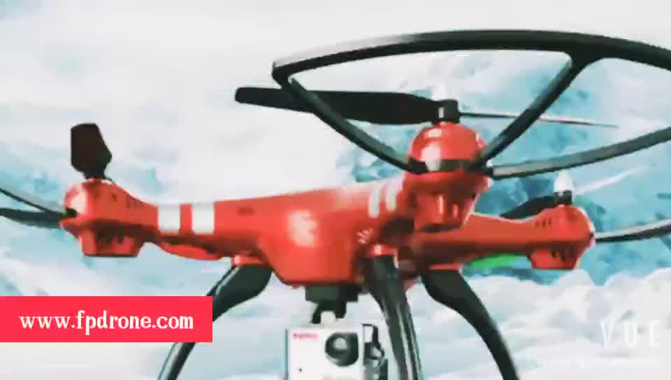 Professional UAV X8HG (X8G Upgrade) 2.4G 4CH 6-Axis Gyroscope RC Helicopter quadcopter gps drone 1080P 8MP HD Camera-Red