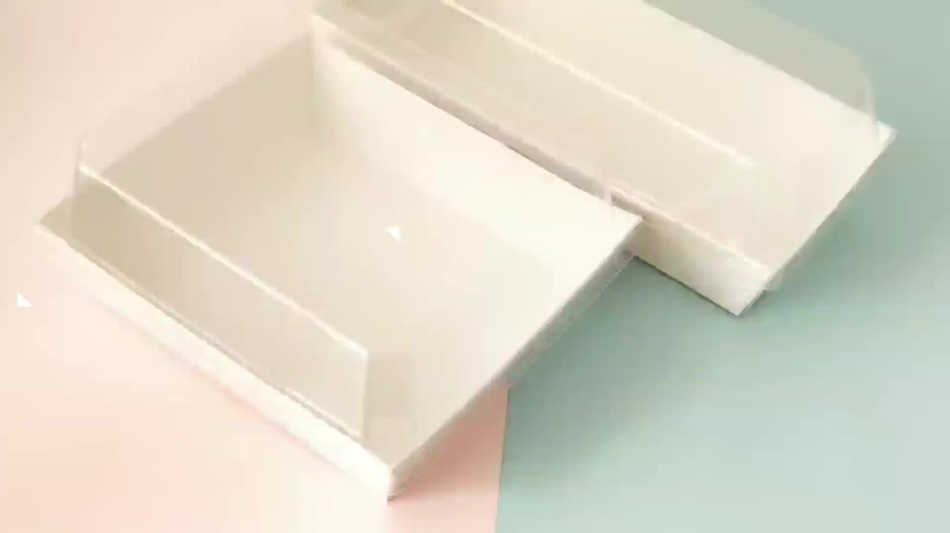 Accept custom white baking food restaurant takeout Hamburger box  cakes and pastries packaging sandwich doughnut box for pastry