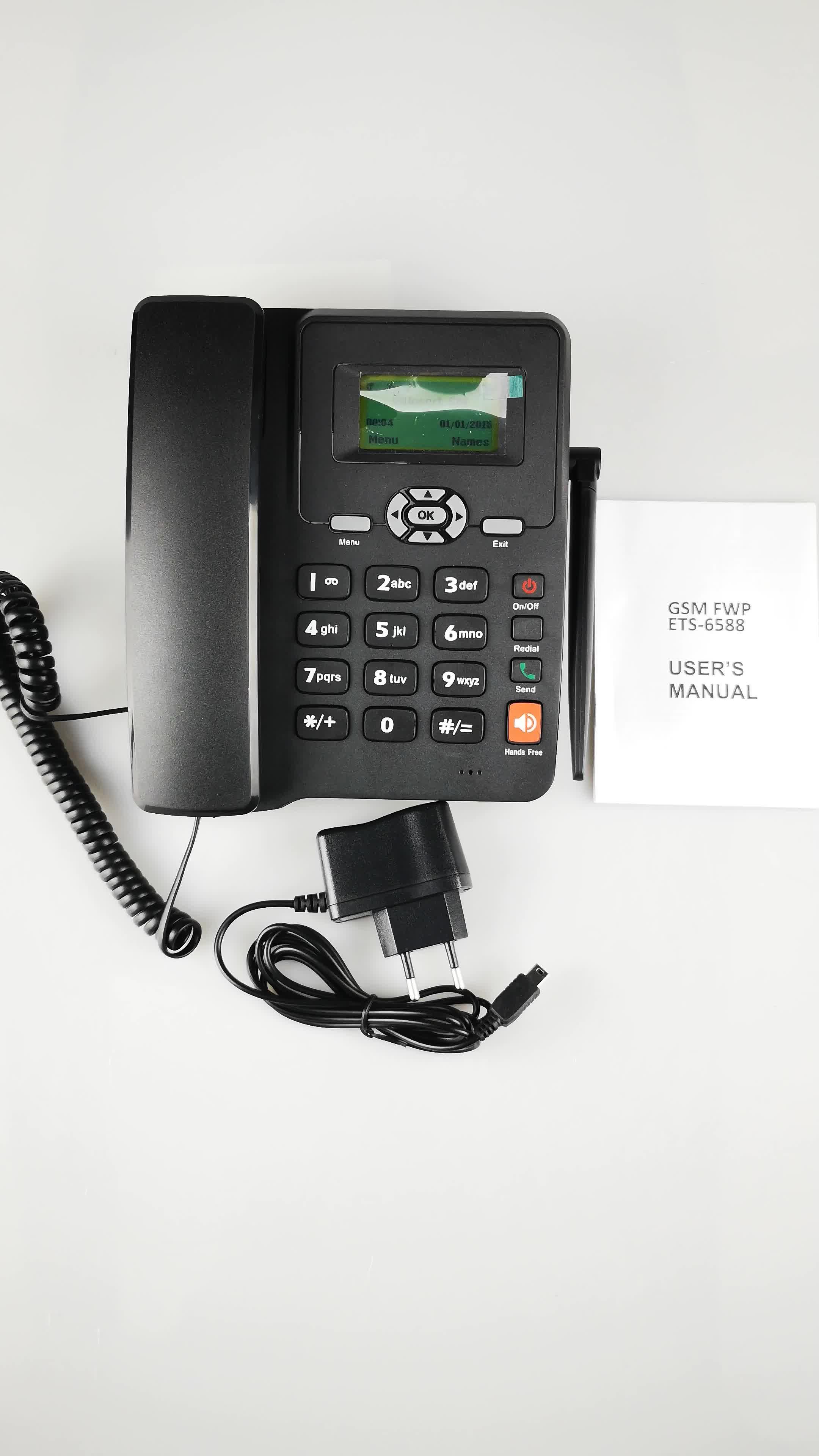 13 年間のメーカーから ce で GSM テーブル電話 ETROSS