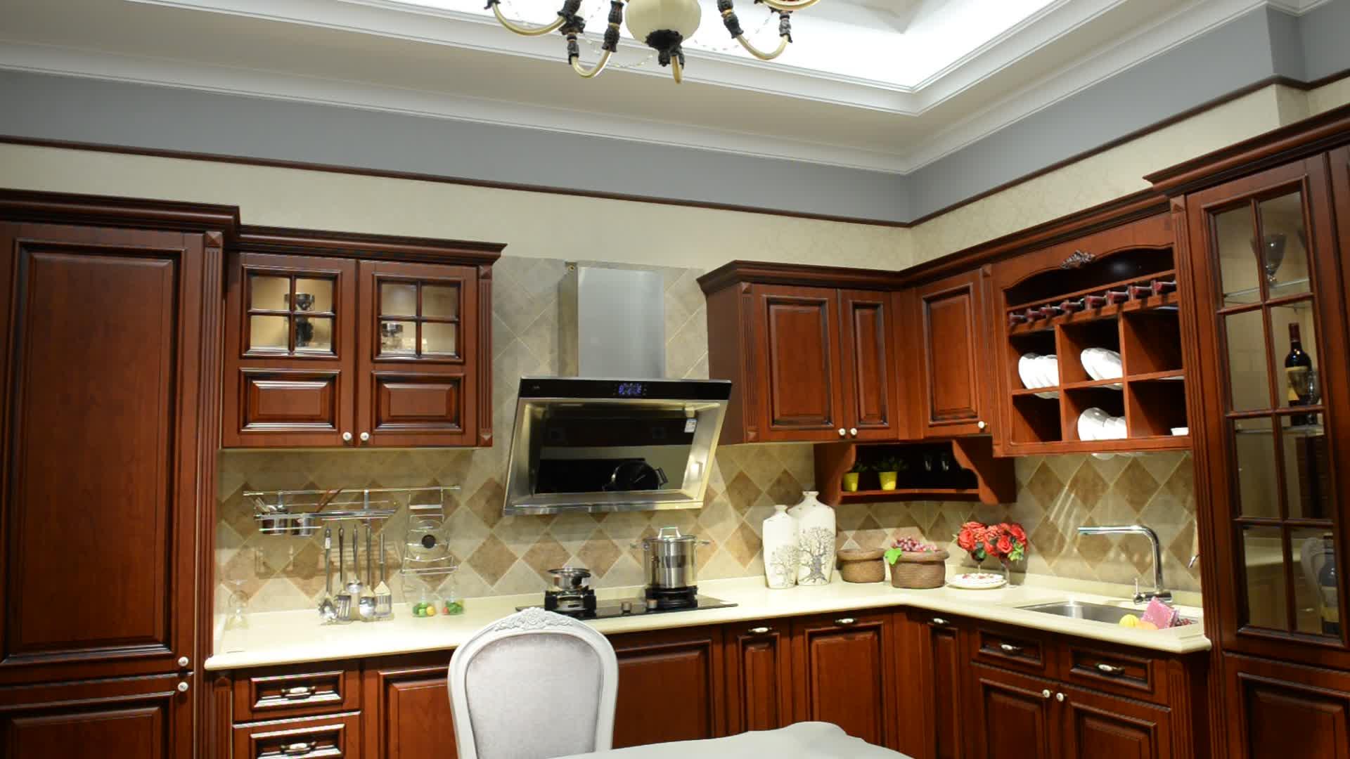 American Kitchen Wall Hanging Solid Wood Complete Veneer ...