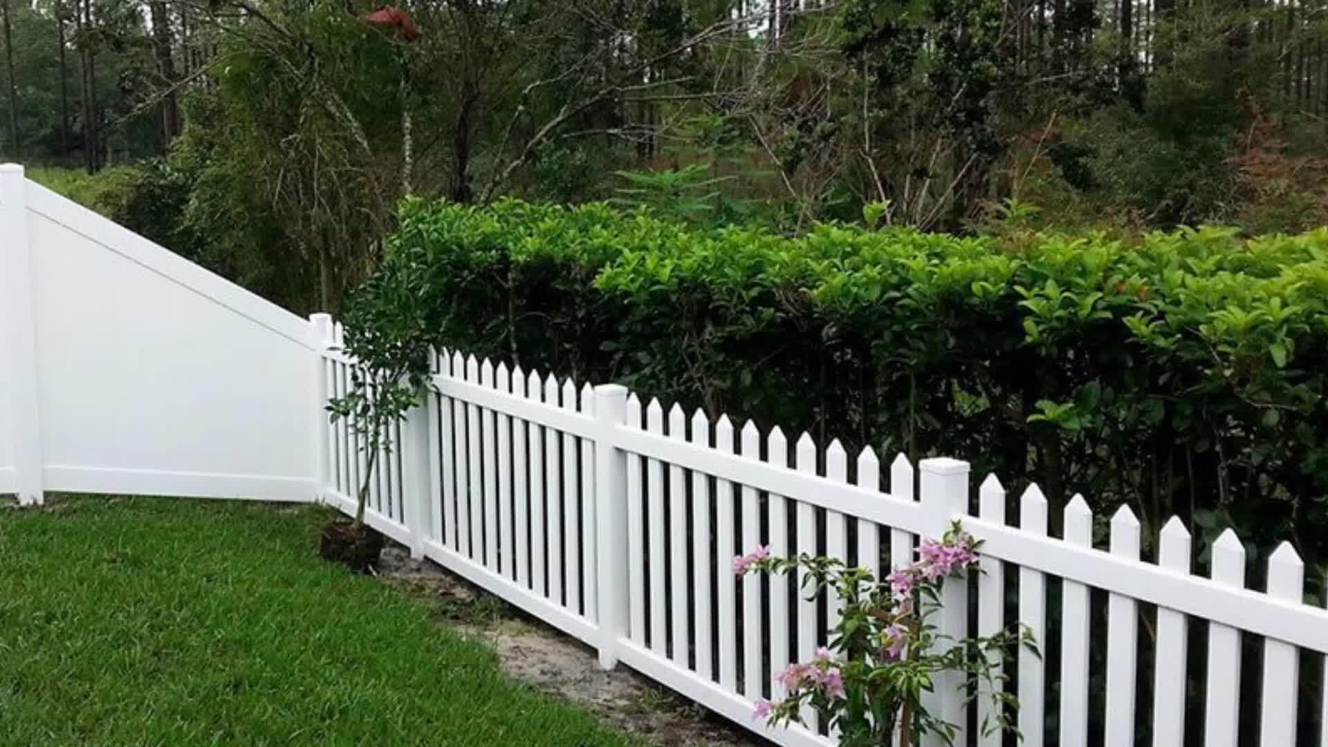 White Plastic Garden Fencing Vinyl Decorative Pvc Picket