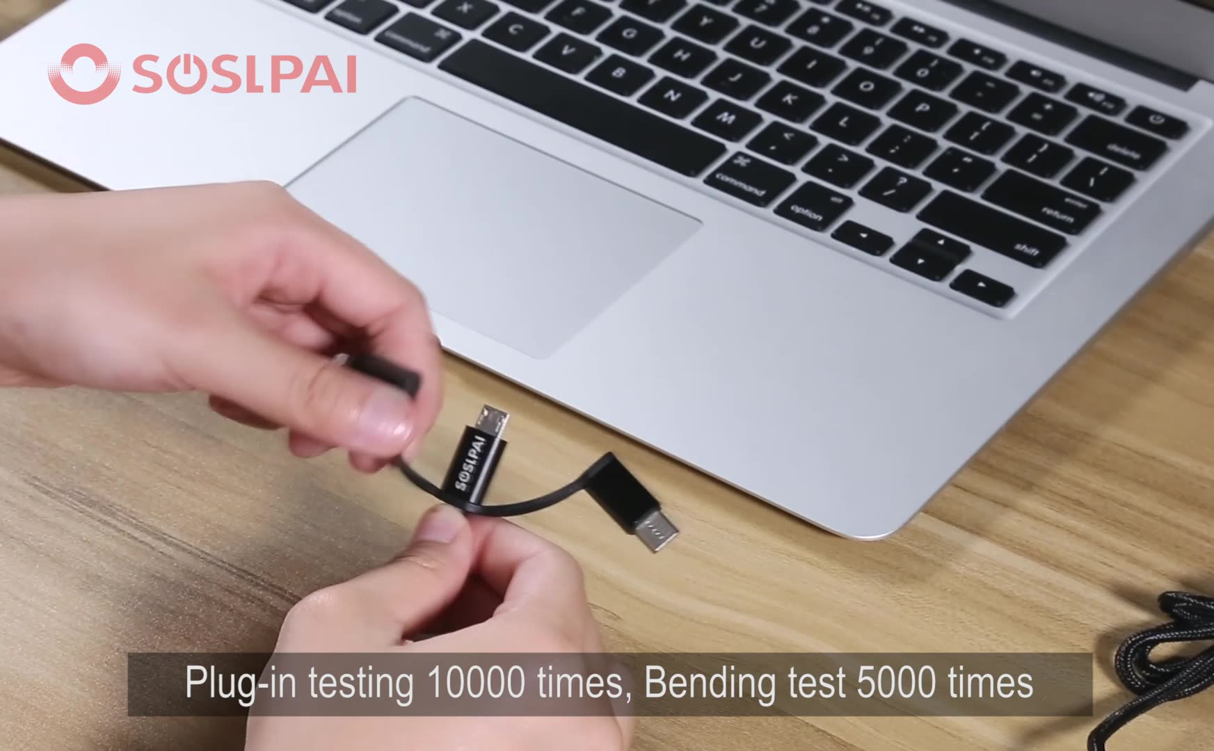 SOSLPAI high quality mobile phone multi usb c cable, 3 in 1 micro usb charging cable, data cable usb