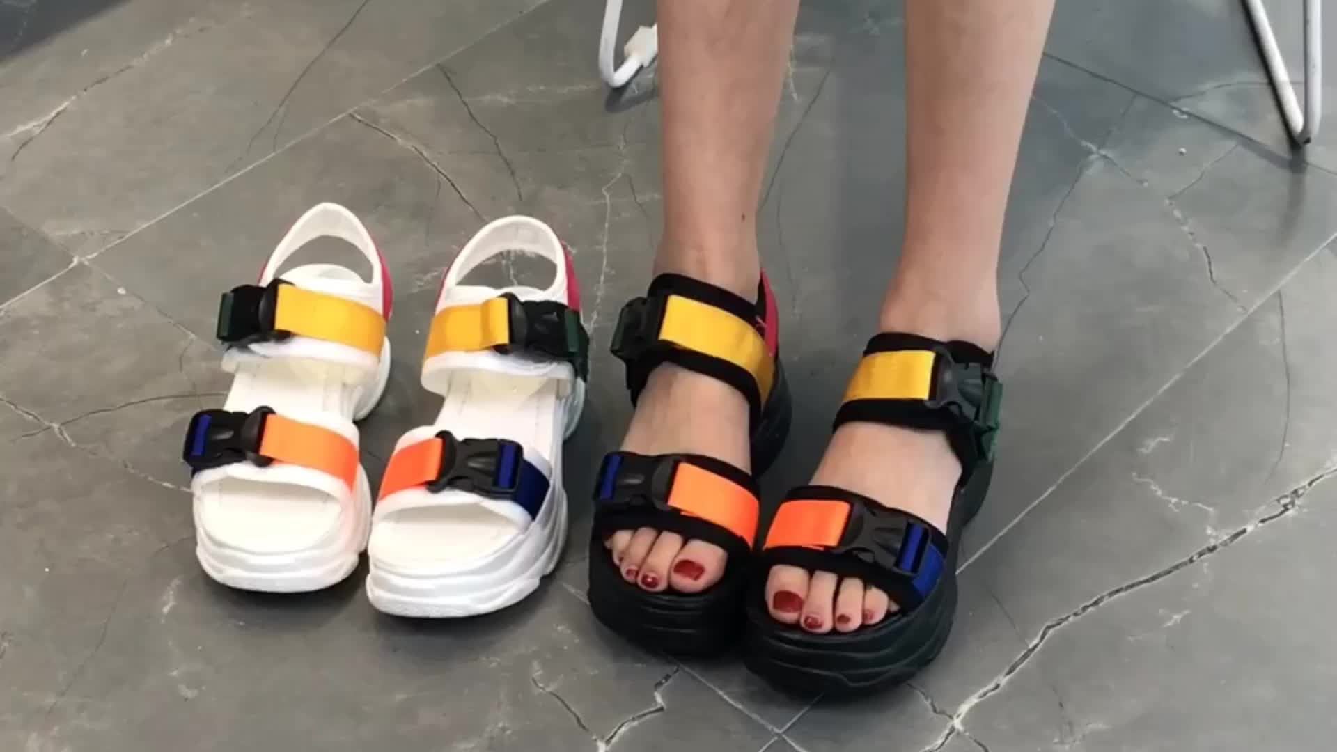 1570 Hot Selling Wholesale Cheapest Women Shoes Platform Sandal Casual Chunky Sneakers Wedge Summer Sandals For Women and Ladies