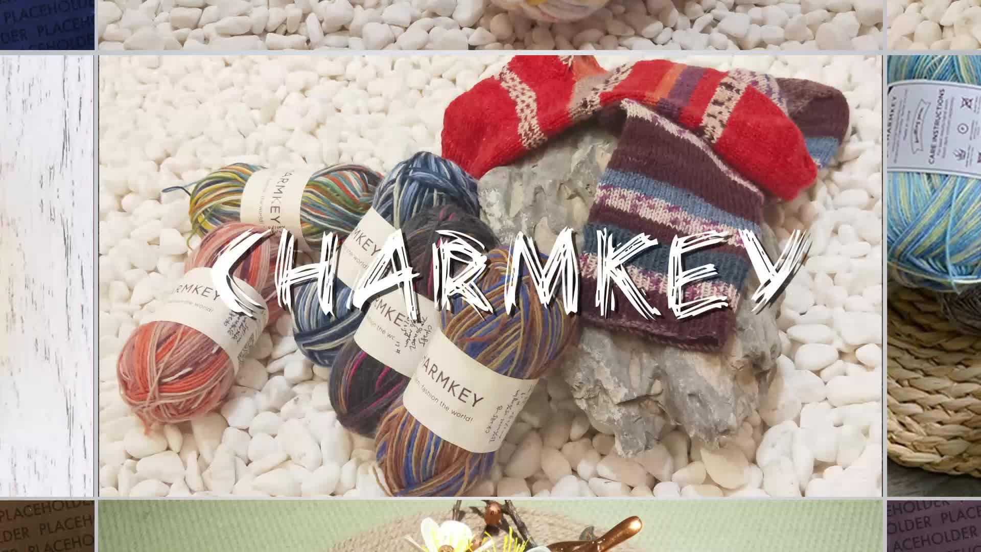 Супер мягкие charmkey натуральная шерсть пряжа из смешанного волокна (не сужающийся книзу массивный фантазии пряжи для вязания крючком свитер и шарф