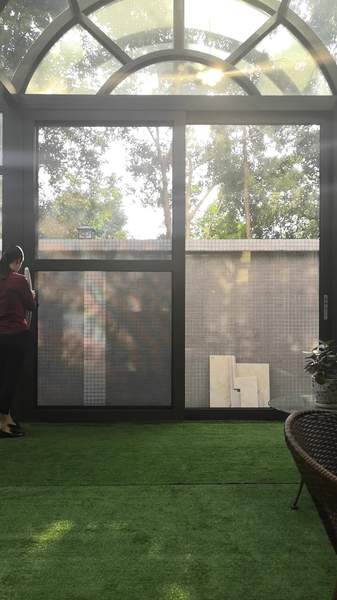 Cheap price lowe glass aluminum sliding balcony sliding doors interior and exterior room divider