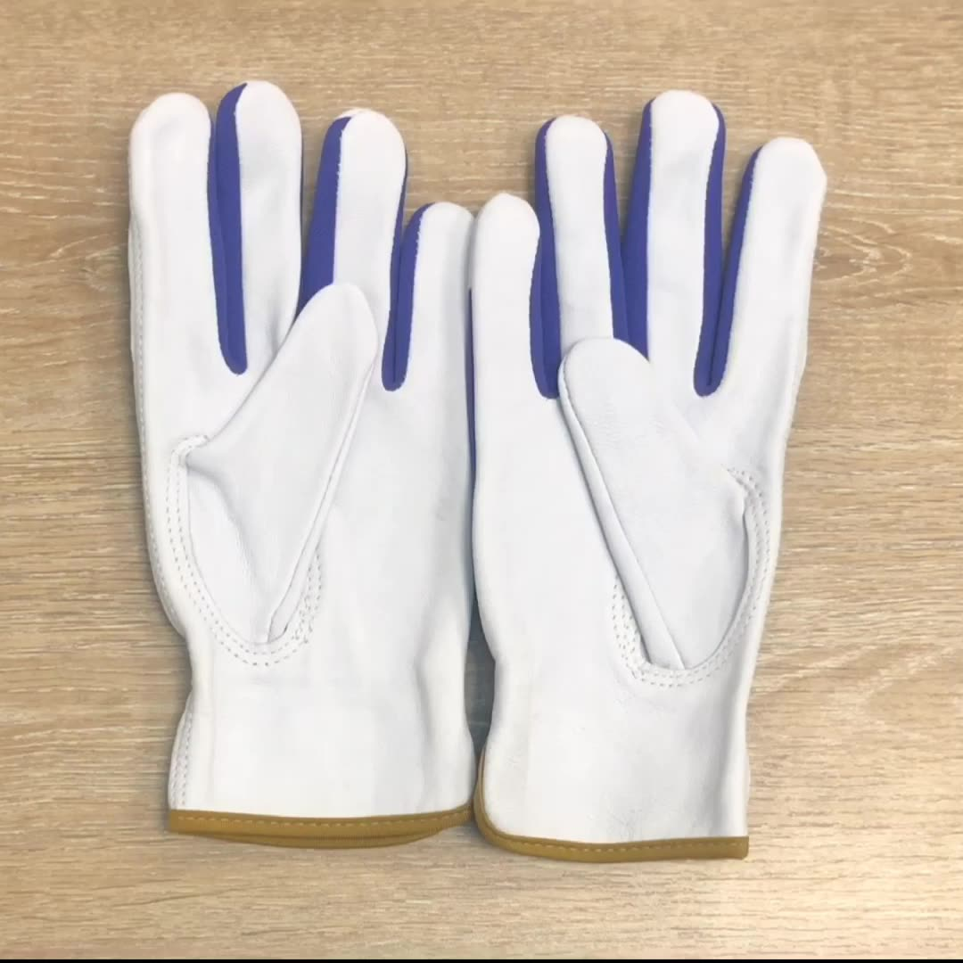 High quality gardening driving general purpose working labor goatskin leather hand protection glove