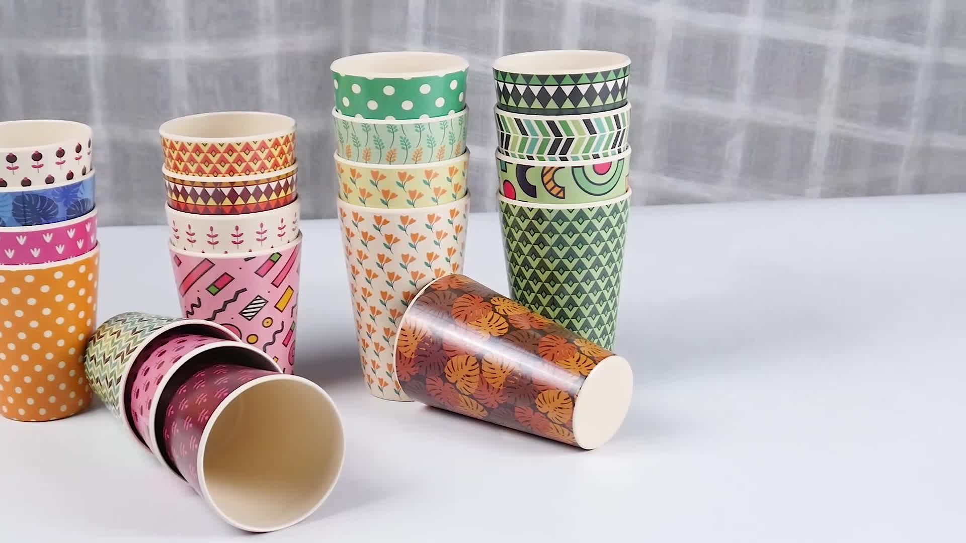 Custom Printing Logo Bamboo Coffee Cup / Bamboo Reusable Coffee Cup With Silicone Lid 201-700ml