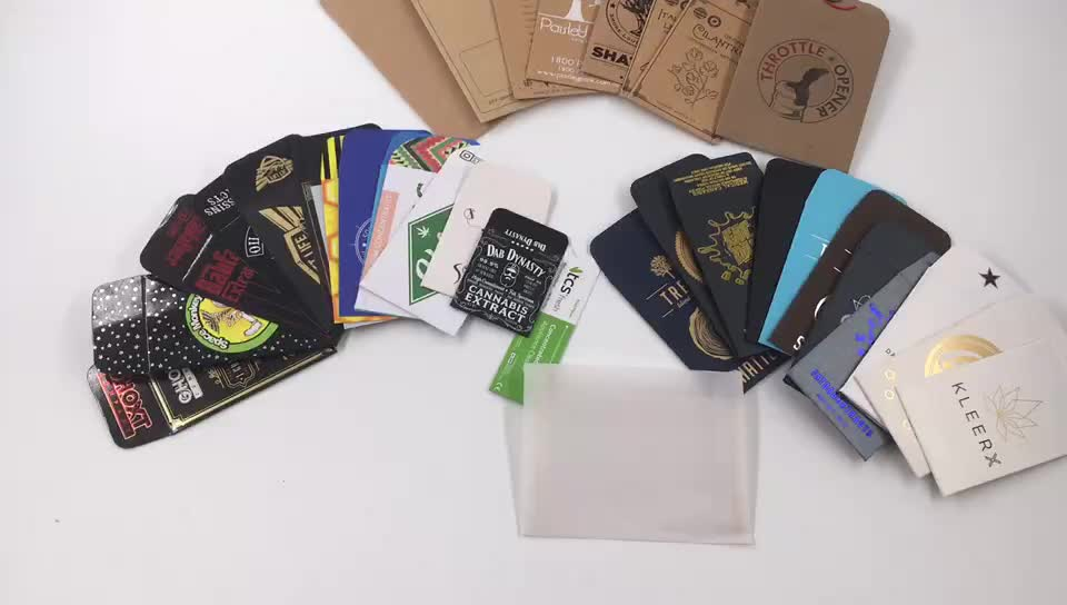 Any size button string closure seed envelopes/extract shatter mini coin envelopes/gift paper envelope